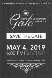 California Journalism Awards Gala Ad