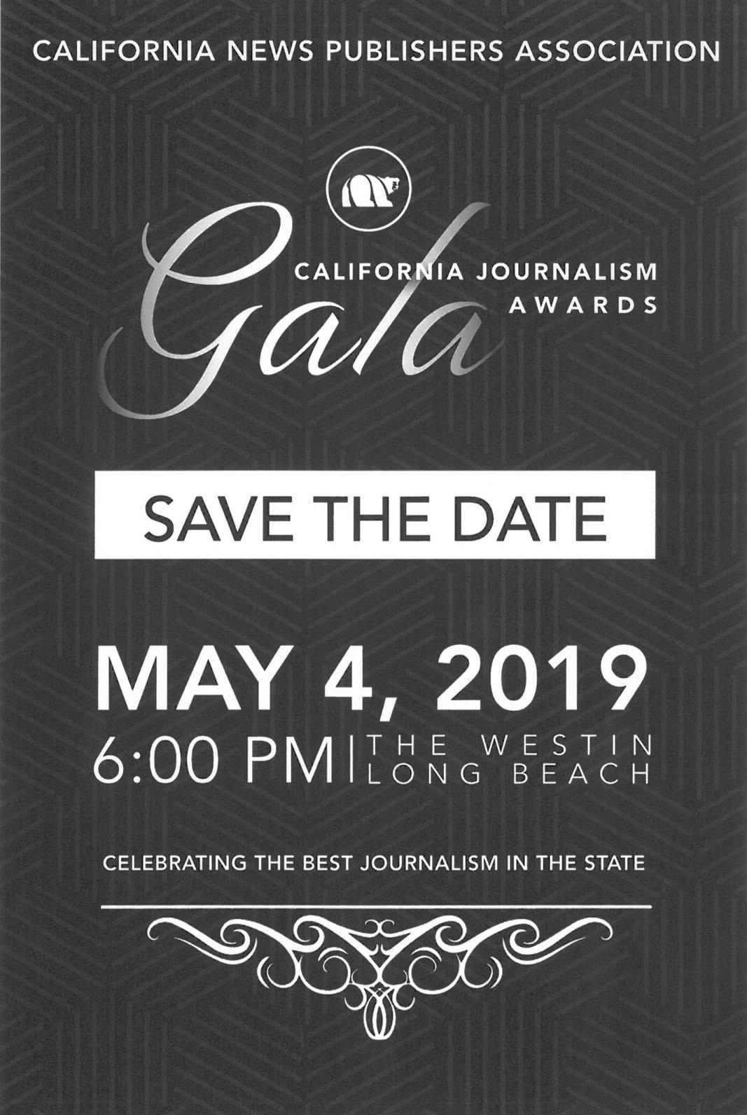 California Journalism Awards Gala Ad