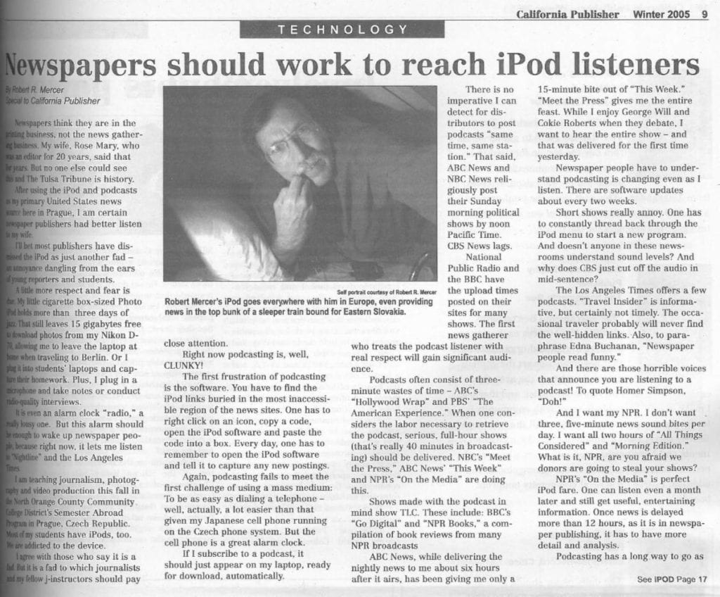 Robert Mercer Article